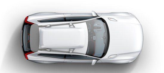 Volvo XC bovenaanzicht