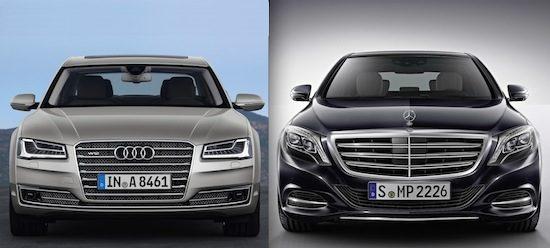 Audi A8 W12 vs Mercedes S600 Lang