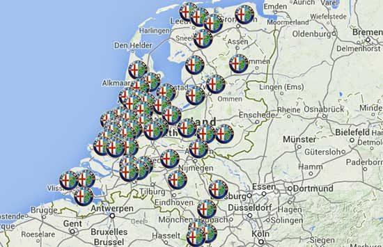 Alfa Romeo dealers en servicepunten in Nederland
