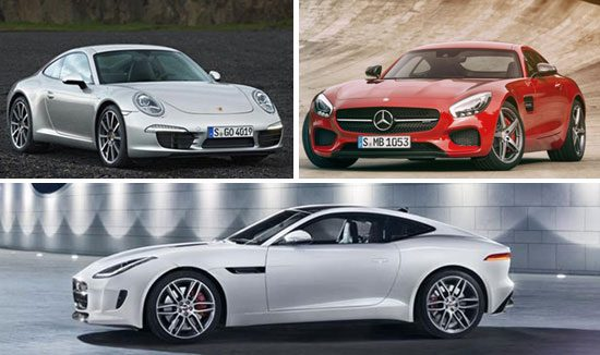 Mercedes AMG GT vs Porsche 911 Carrera S vs Jaguar F-Type R
