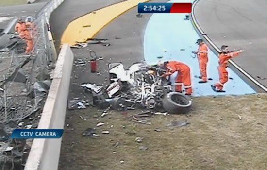 Het wrak van de Audi LMP1-bolide