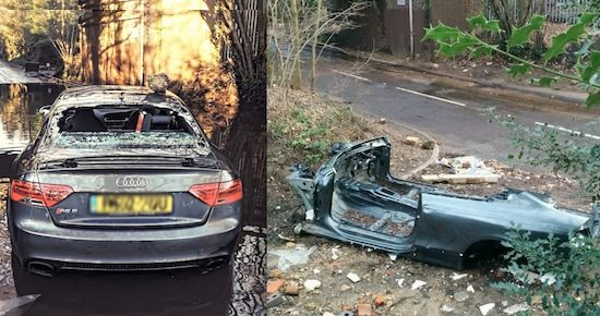 Audi RS5 tot op het bot gestript