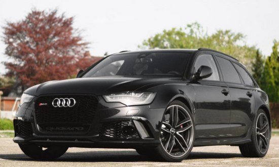Gespot: black on black Audi RS6