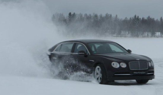 new Flying Spur on ice