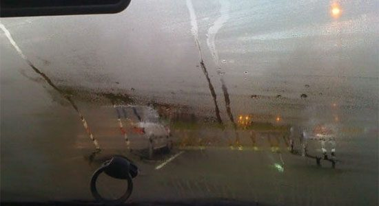 Ramen beslaan binnenkant auto