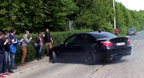BMW E60 M5 fail video