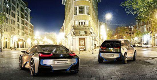 Voorlopig het enige elektrische speelgoed van BMW i: de i3 en i8