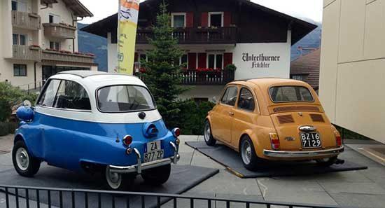BMW Isetta en Fiat 500