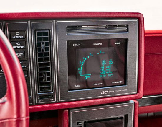 Buick Graphic Control Center