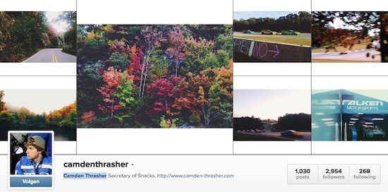 Camden Thrasher op Instagram