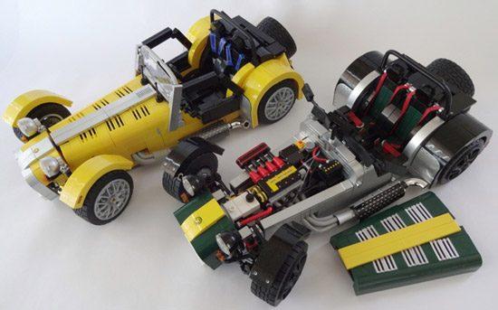 De caterham seven bouw je binnenkort gewoon met lego for Honda motor lego kits