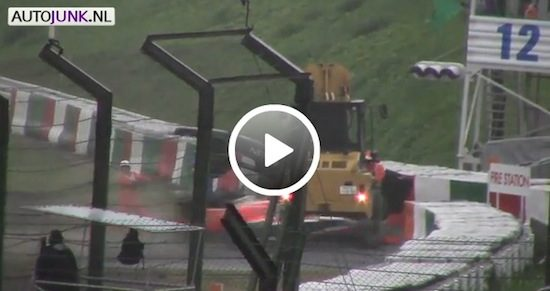 Video: Jules Bianchis crash op Suzuka