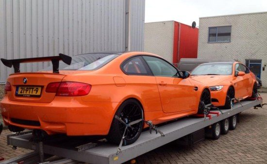BMW M3 GTS'en in oranjestemming