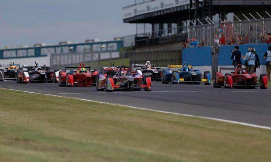 Formula E in Donington