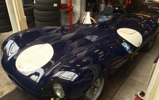 Jaguar D-Type in Nederlandse garage gespot
