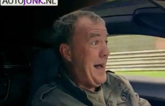 Een doodsbange Jeremy Clarkson