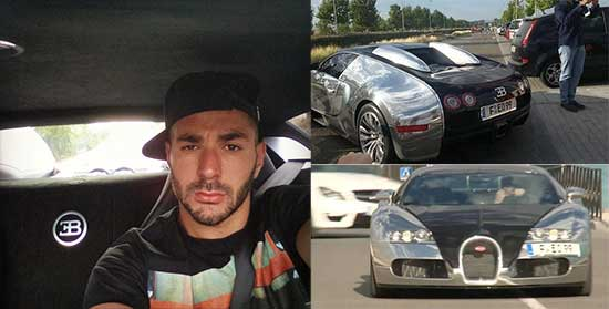Karim Benzema en zijn Bugatti Veyron