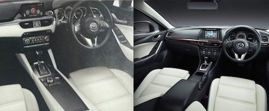 Links: facelift. Rechts: huidig model