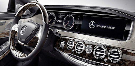Het interieur van de Mercedes S600