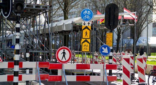 NSS wegafzetting in Den Haag