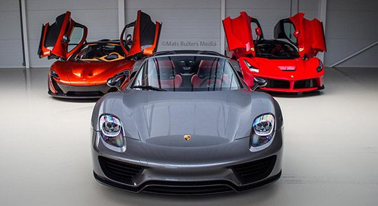 918 Spyder vs. LaFerrari vs. P1
