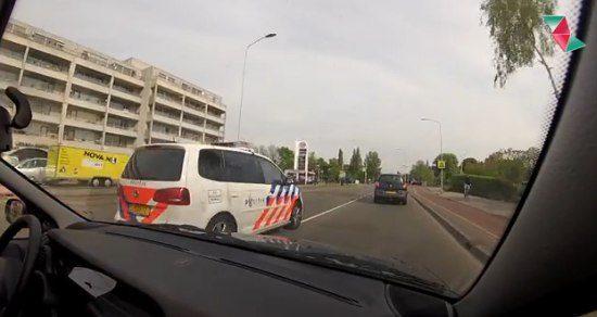 Verkeershufter van de dag is een politieagent