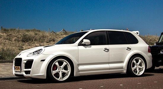 Porsche Cayenne Turbo TechArt Magnum in Noordwijk