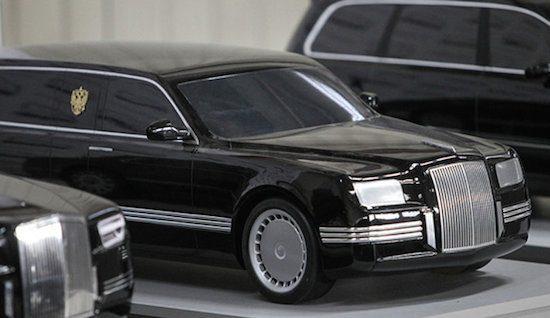 Aanschouw, de nieuwe limo van president Poetin