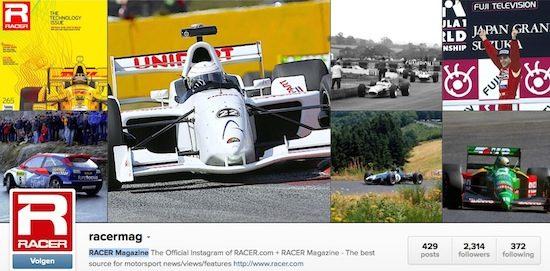 RACER Magazine op Instagram