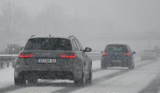 RS6 in de sneeuw