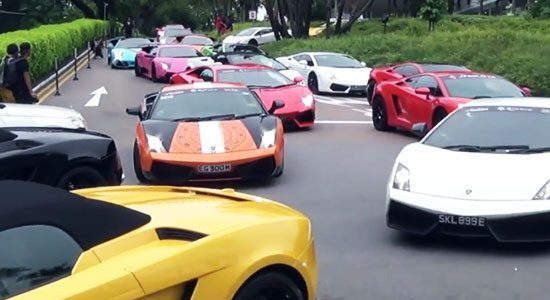 Lamborghini combo in Singapore is eindeloos
