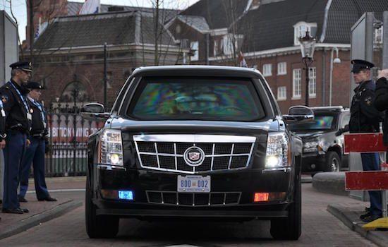 Obama's limo was te zwaar voor paleis Huis ten Bosch
