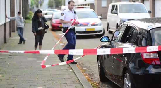 BMW 1 Serie mist achterruit na schietpartij