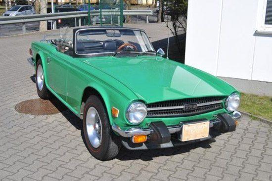 De Triumph TR6 van Elvis