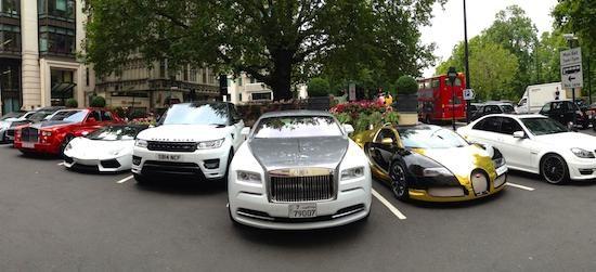 Veyron, Aventador, Wraith, Phantom en c63 amg