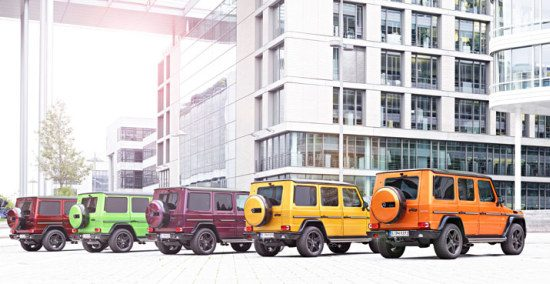 Mercedes G-KLasse Crazy Colors
