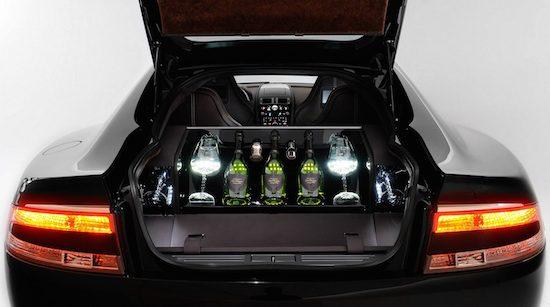 Aston Martin Rapide verkrijgbaar met Dom Pérignon drankset