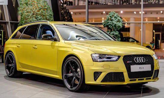 Audi RS4 in Austin Gelb is de powerstation die je wilt