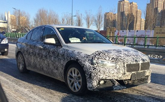 BMW 1 Serie Sedan spyshot