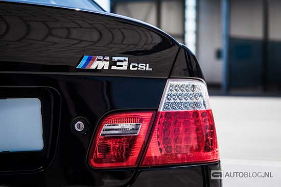 BMW M3 CSL rijtest en video