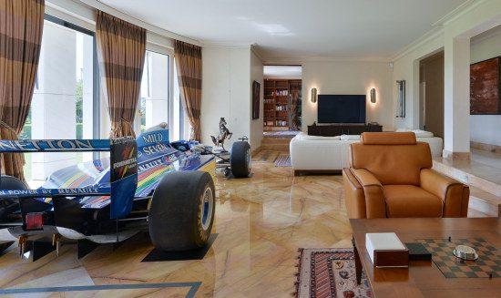 Benetton in woonkamer