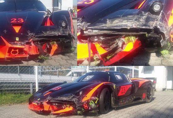Ferrari FXX schade
