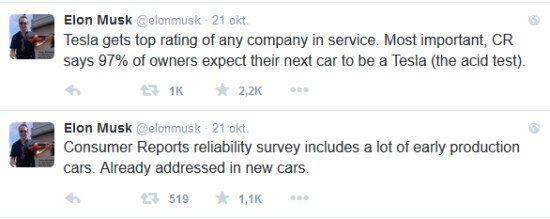 Musk reageert