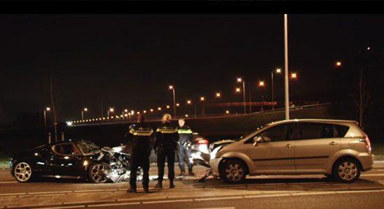 Alfa Romeo 4C crash Woerden