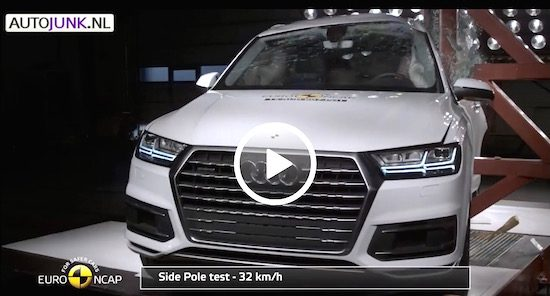 Crashtest! Audi Q7 vs Volvo XC90