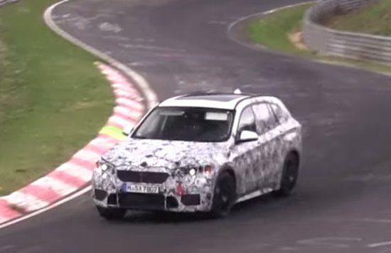 BMW X1 testwerk op de 'Ring