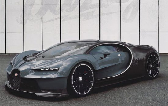3D-artist knutselt mogelijke Bugatti Chiron in elkaar