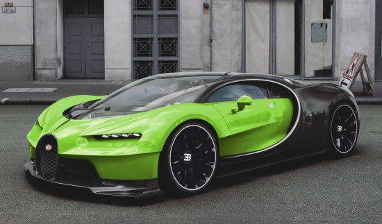 Bugatti Chiron photoshop