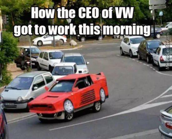 Tien komische reacties op het Volkswagen emissie-schandaal