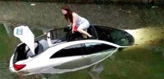 Car Crash Dream Into A River